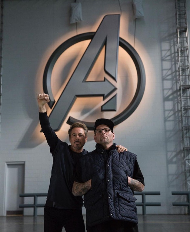 Robert Downey Jr. Salutes The Avengers In New Behind-The-Scenes Pic