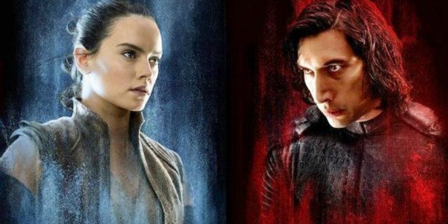 Rey and Kylo in The Last Jedi