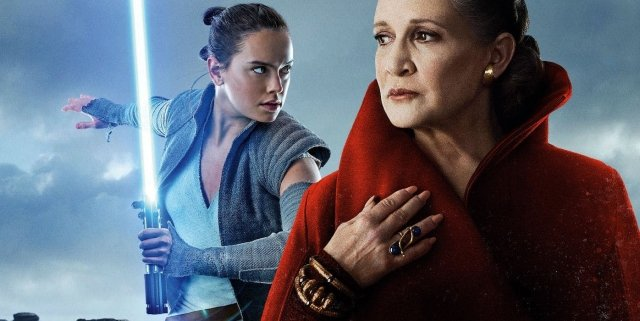Rey and Leia in Star Wars
