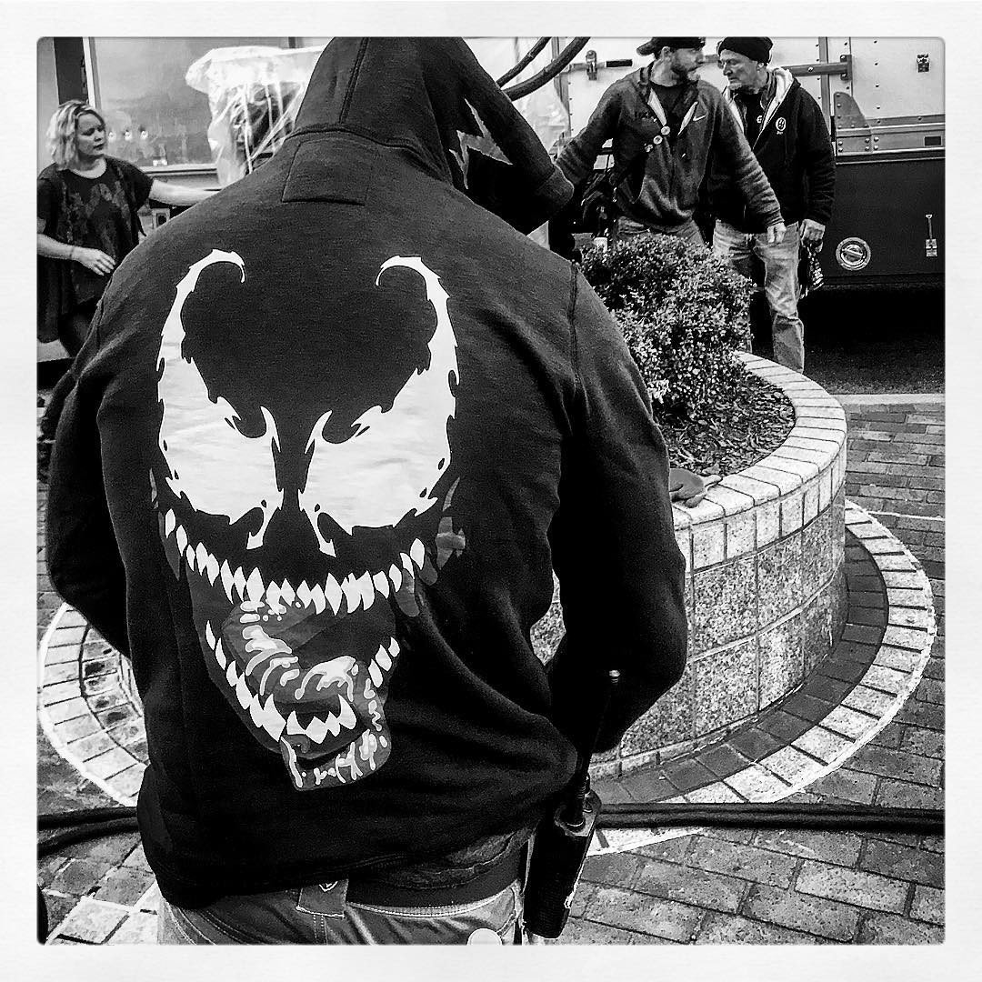 Latest BTS Photo For Venom Sees Tom Hardy Hone His Craft