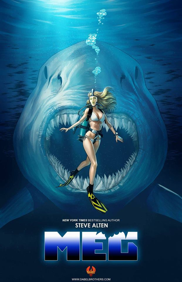cover art for the meg comic book adaptation surfaces