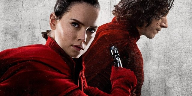 Rey and Kylo in Star Wars: The Last Jedi Promo Art