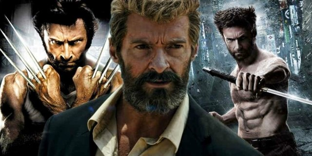Hugh Jackman in Logan, The Wolverine and X-Men Origins