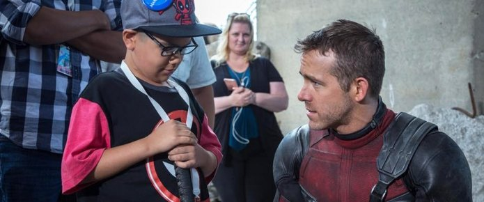The Merc Stirs Hope As Part Of Deadpool's Make-A-Wish Set Visit