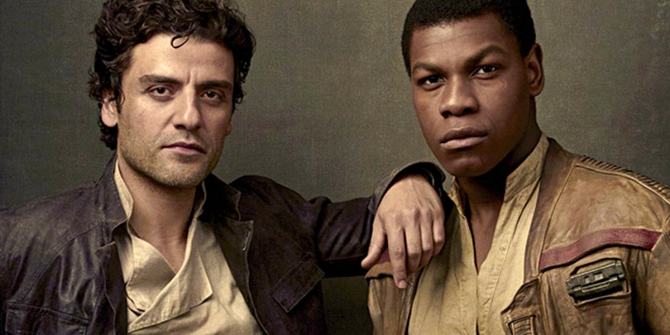Finn and Poe in Star Wars