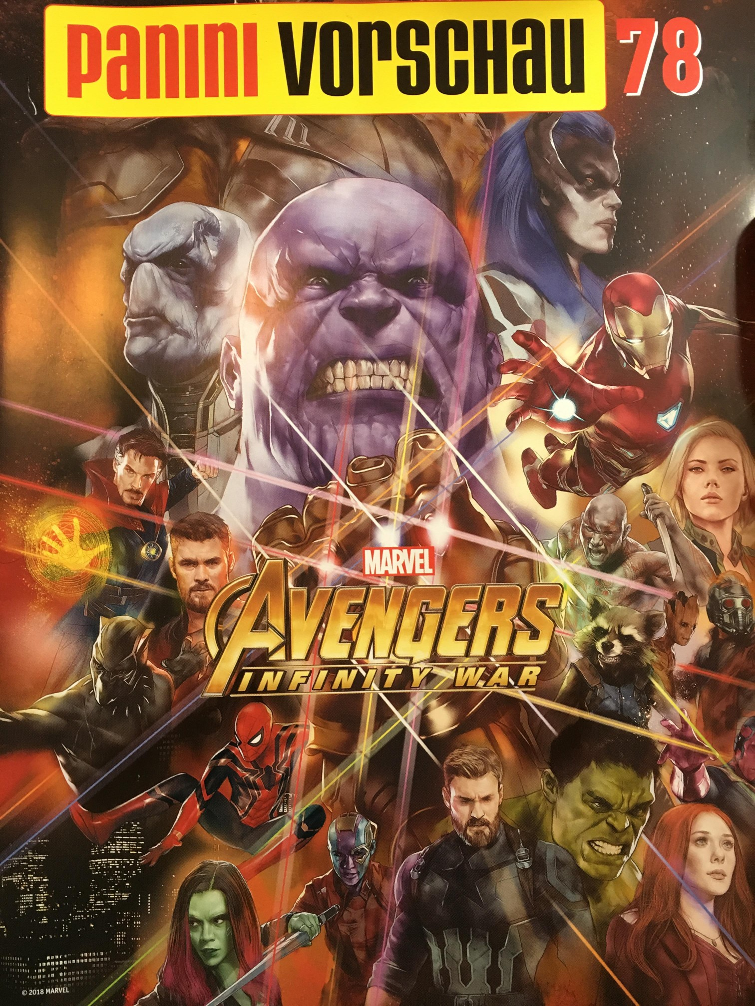 the black order looms over magazine cover for avengers: infinity war
