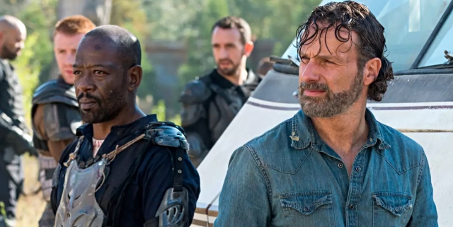 Rick and Morgan in The Walking Dead