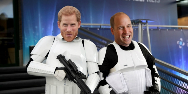Prince Harry and William in Star Wars: The Last Jedi