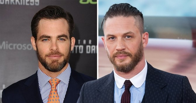 Chris Pine and Tom Hardy