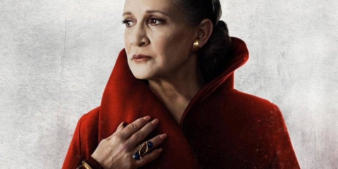 Princess Leia in Star Wars: The Last Jedi