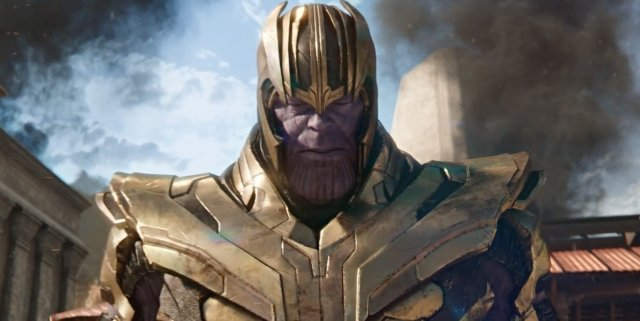 Thanos armor in Avengers Infinity War
