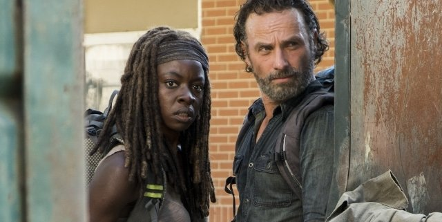 rick and michonne walking dead