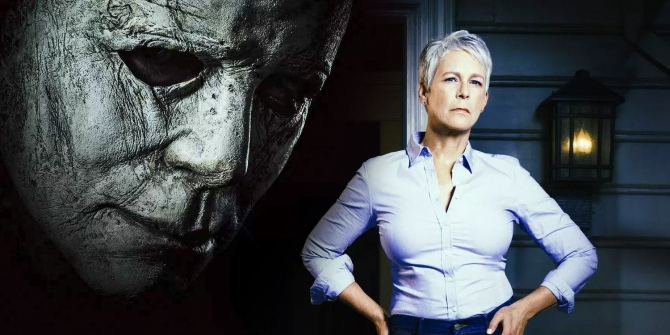 Halloween-2018-Michael-Myers-and-Jamie-Lee-Curtis-as-Laurie-Strode