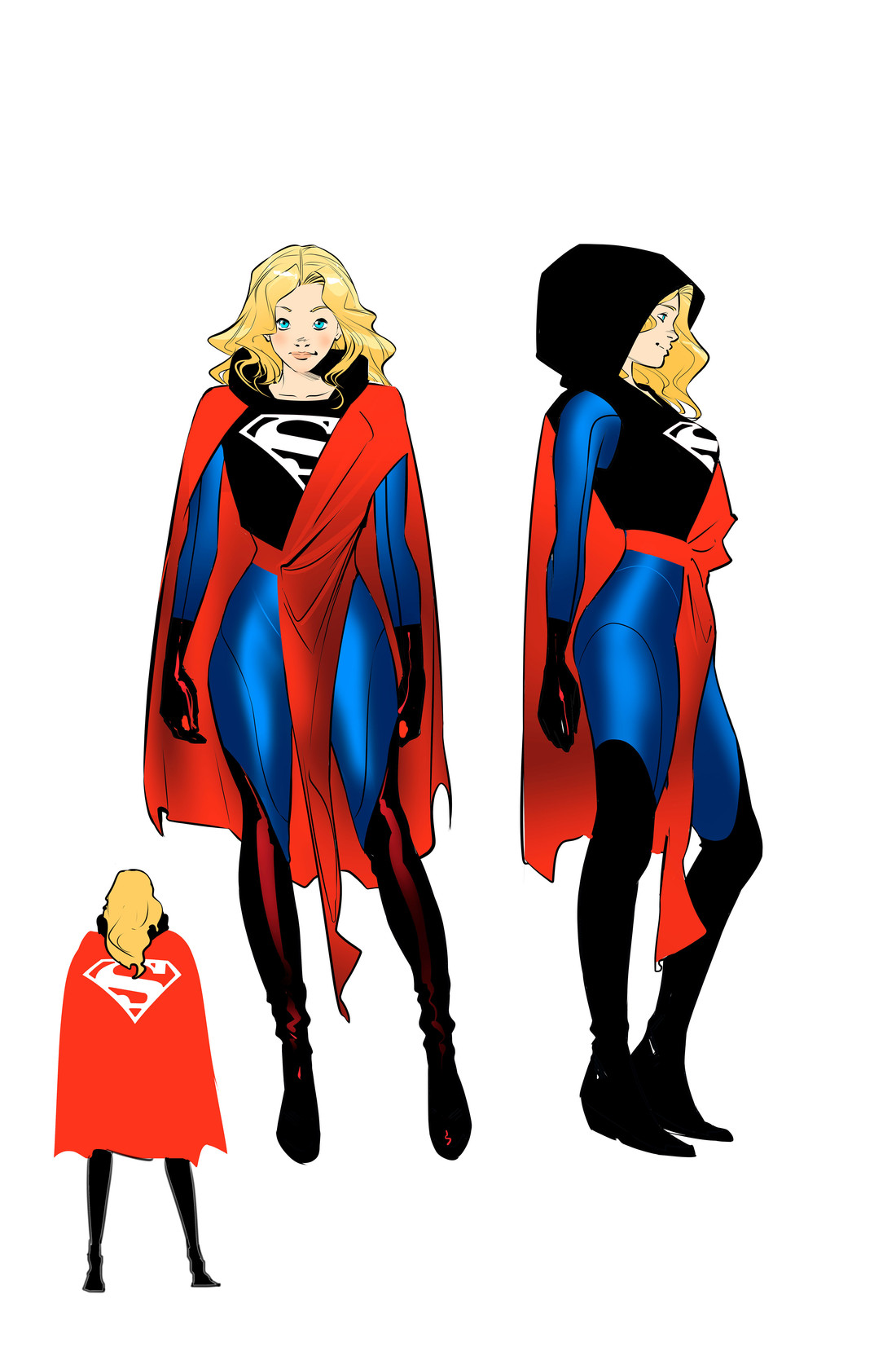 could supergirl's new comic book costumes hint at changes on the tv