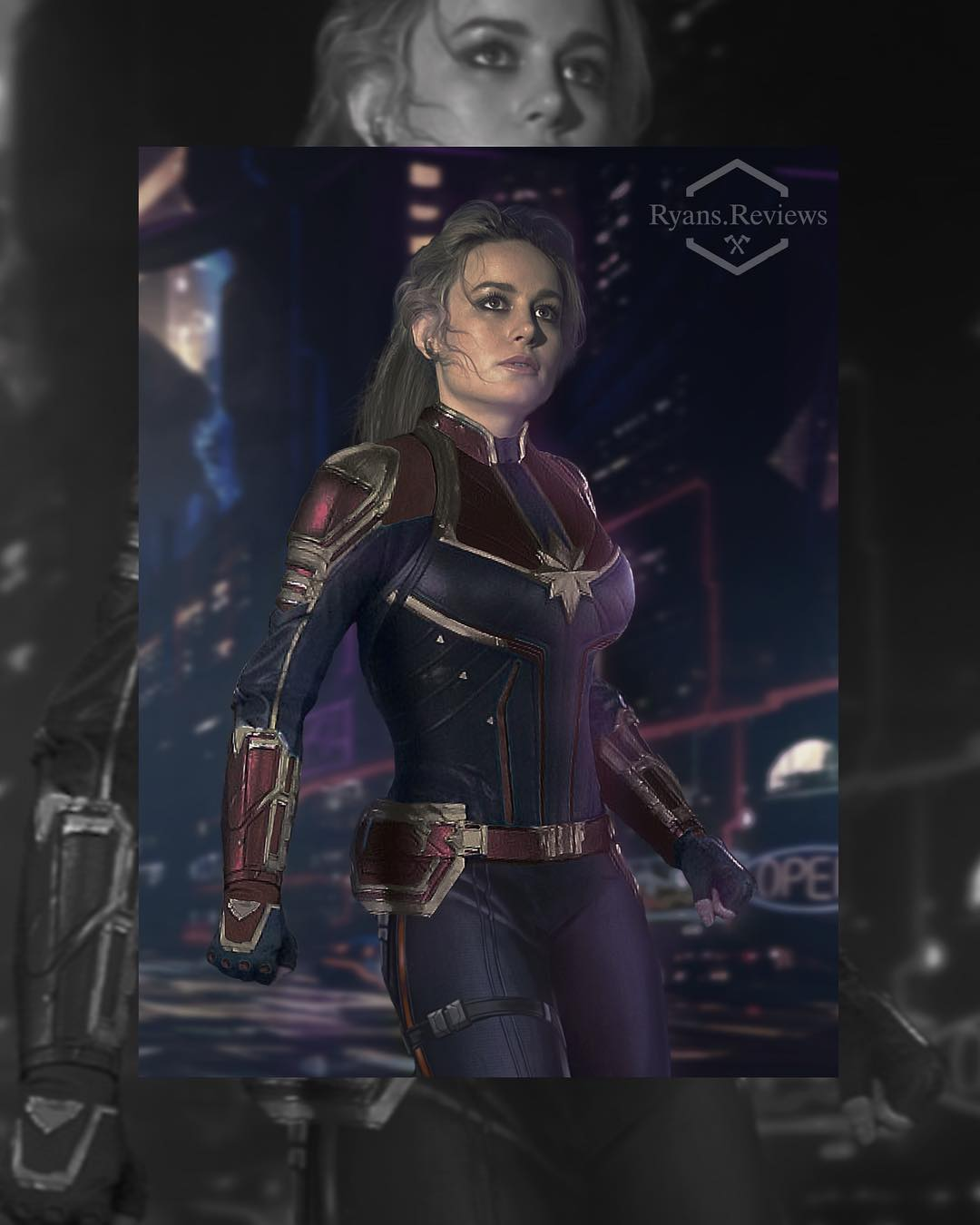 Captain Marvel Fan Art Imagines Brie Larson In The Classic Costume The title character happens to be the most powerful superhero in the universe plus, based on the end credits scene in avengers: captain marvel fan art imagines brie