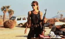 A Battle-Ready Sarah Connor Headlines The Terminator Set Pics