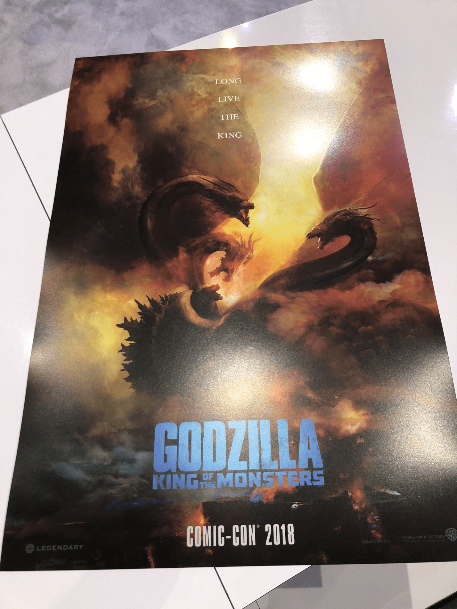 Godzilla King Of The Monsters Poster Gojira's Lo...