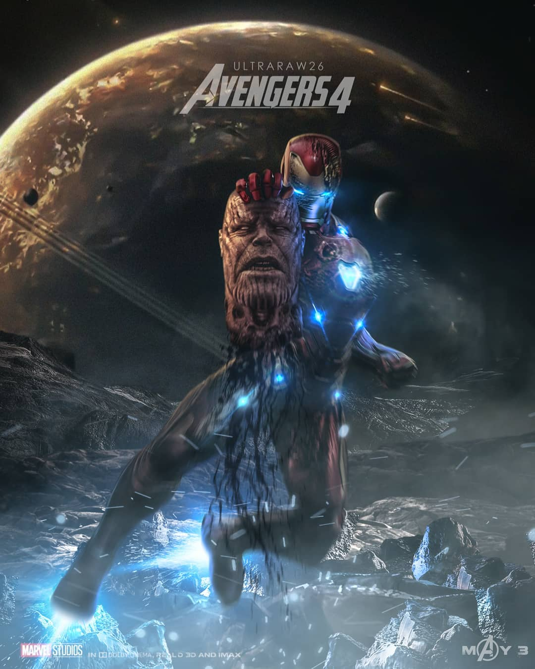 Thanos Meets His Bloody End On Gruesome Avengers 4 Fan Poster
