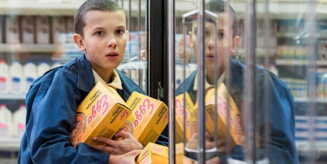 Eleven-and-Eggos-in-Stranger-Things