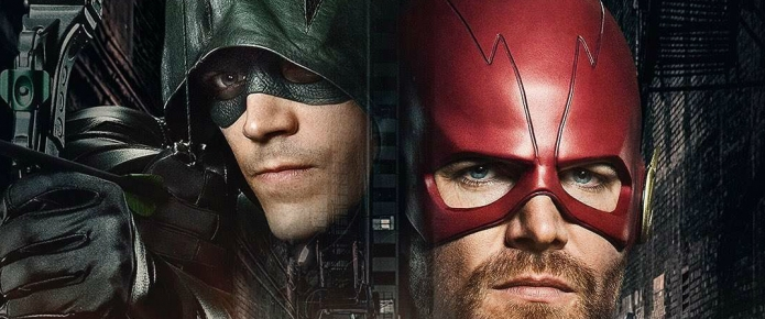 First Look At Stephen Amell In Full Flash Costume For Arrowverse Crossover