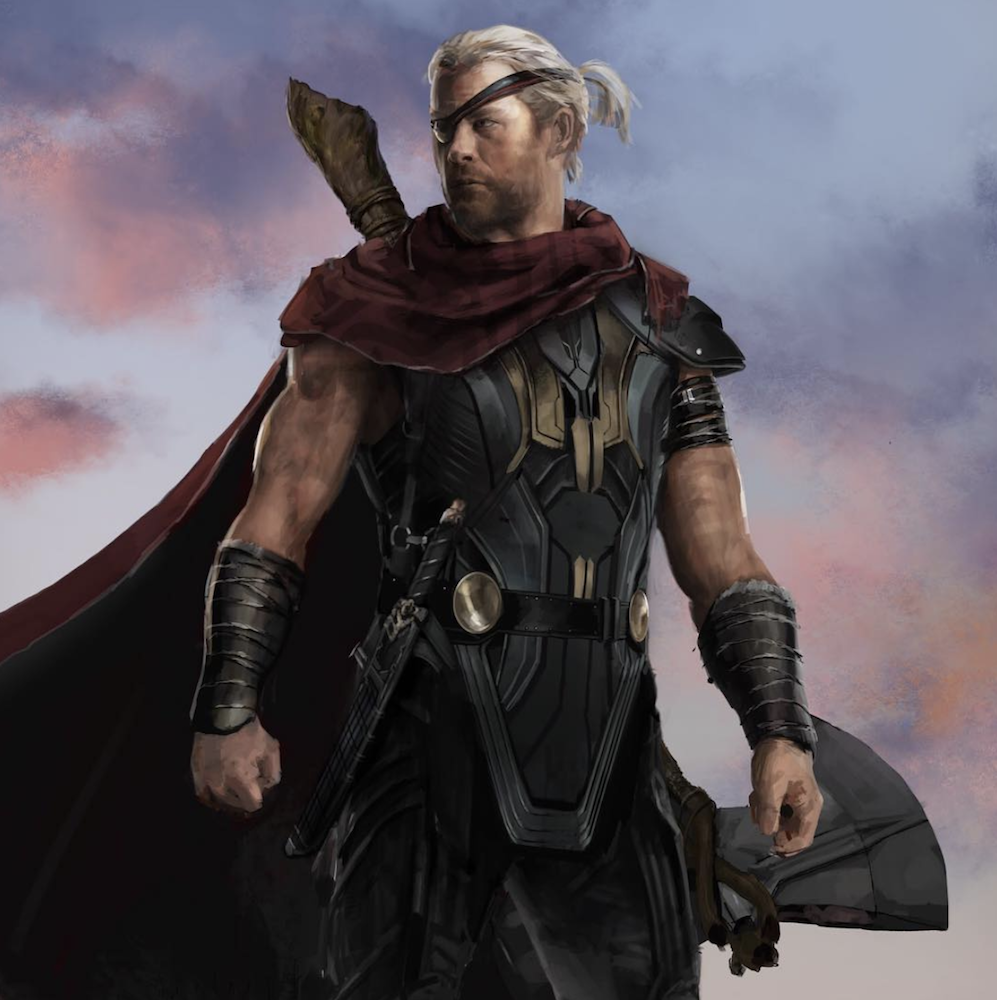 Avengers: Infinity War Concept Art Features Thor With A Ponytail