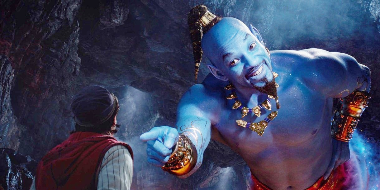 The Internet Reacts To Will Smith S Blue Genie In Aladdin