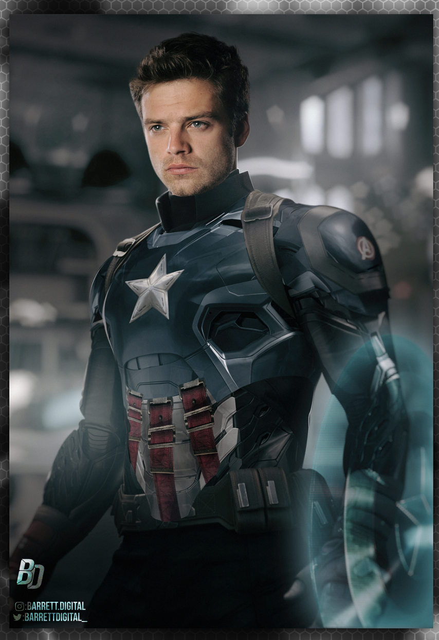 marvel fan art imagines bucky barnes as the next captain americamore from the web