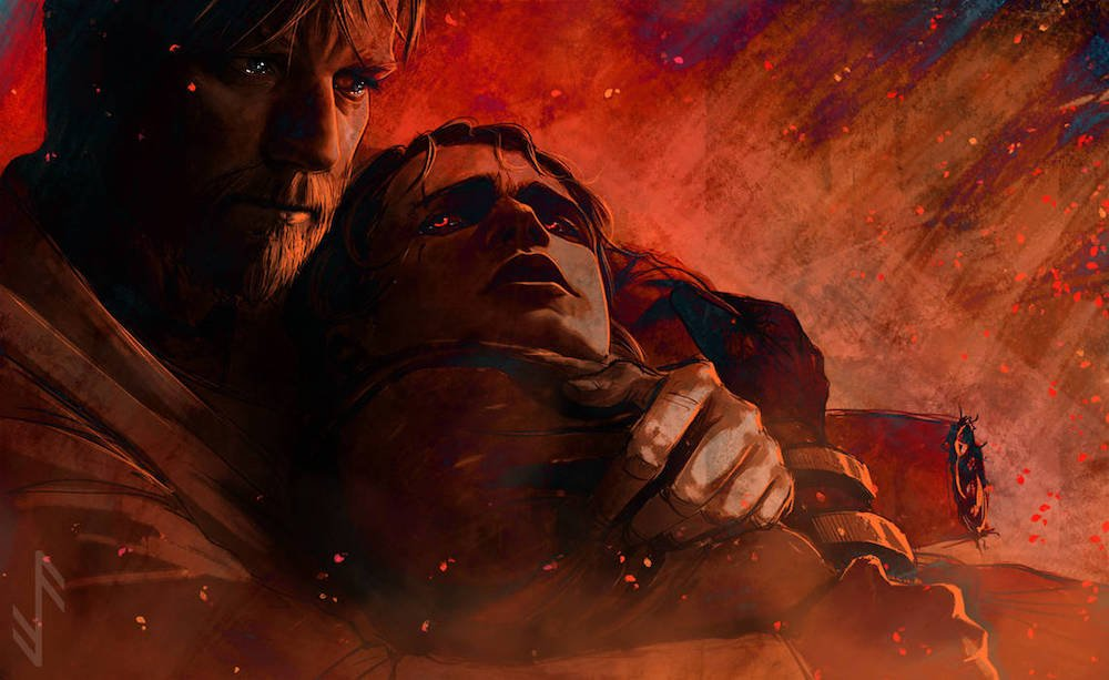 Star Wars Fan Art Imagines Heartbreaking Moment Between Obi Wan And Anakin