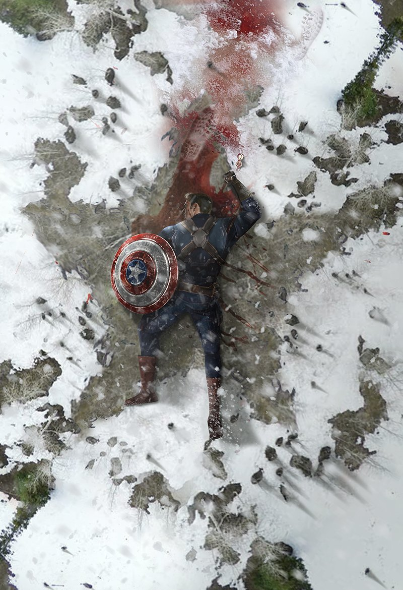 Tragic Avengers: Endgame Art Imagines Captain America's Death