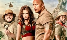 Karen Gillan And The Rock Share A Laugh In New Jumanji 3 Photo
