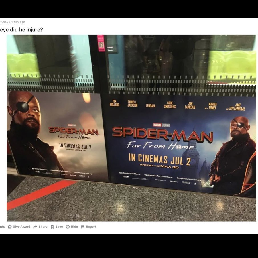 Samuel L. Jackson unhappy with eye patch error on Spider-Man posters