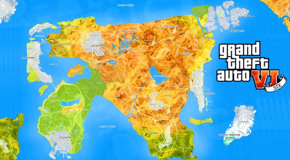Gta 6 Map Of America.New Grand Theft Auto 6 Leak Reveals The Plot And Setting