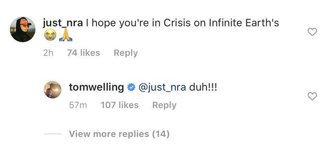 Tom Welling May've Just Confirmed He's In Crisis On Infinite Earths