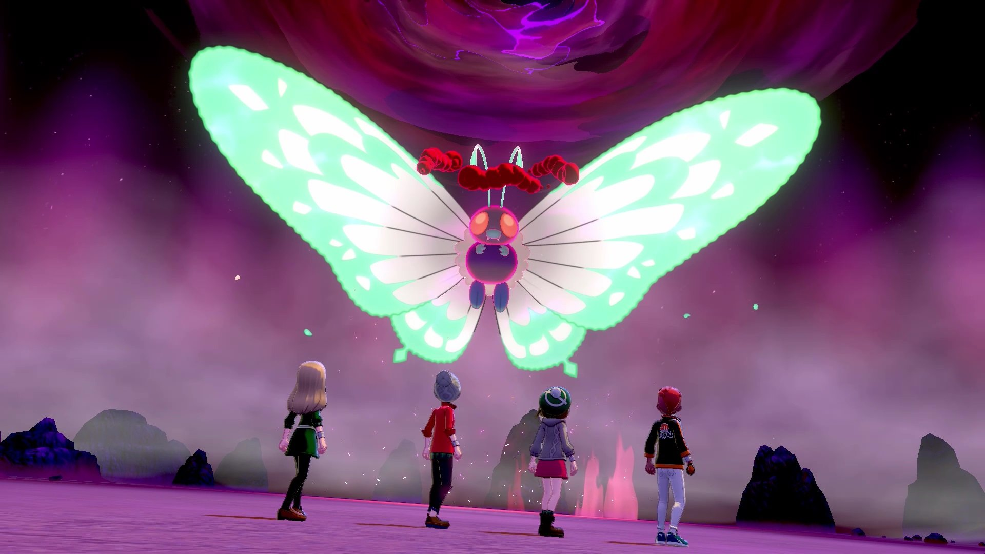 Pokémon Sword and Shield Dynamax Butterfree