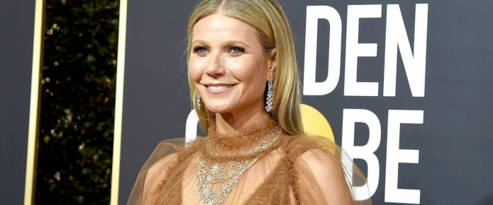 The Internet's Freaking Out Over Gwyneth Paltrow's Naked Golden Globes Dress