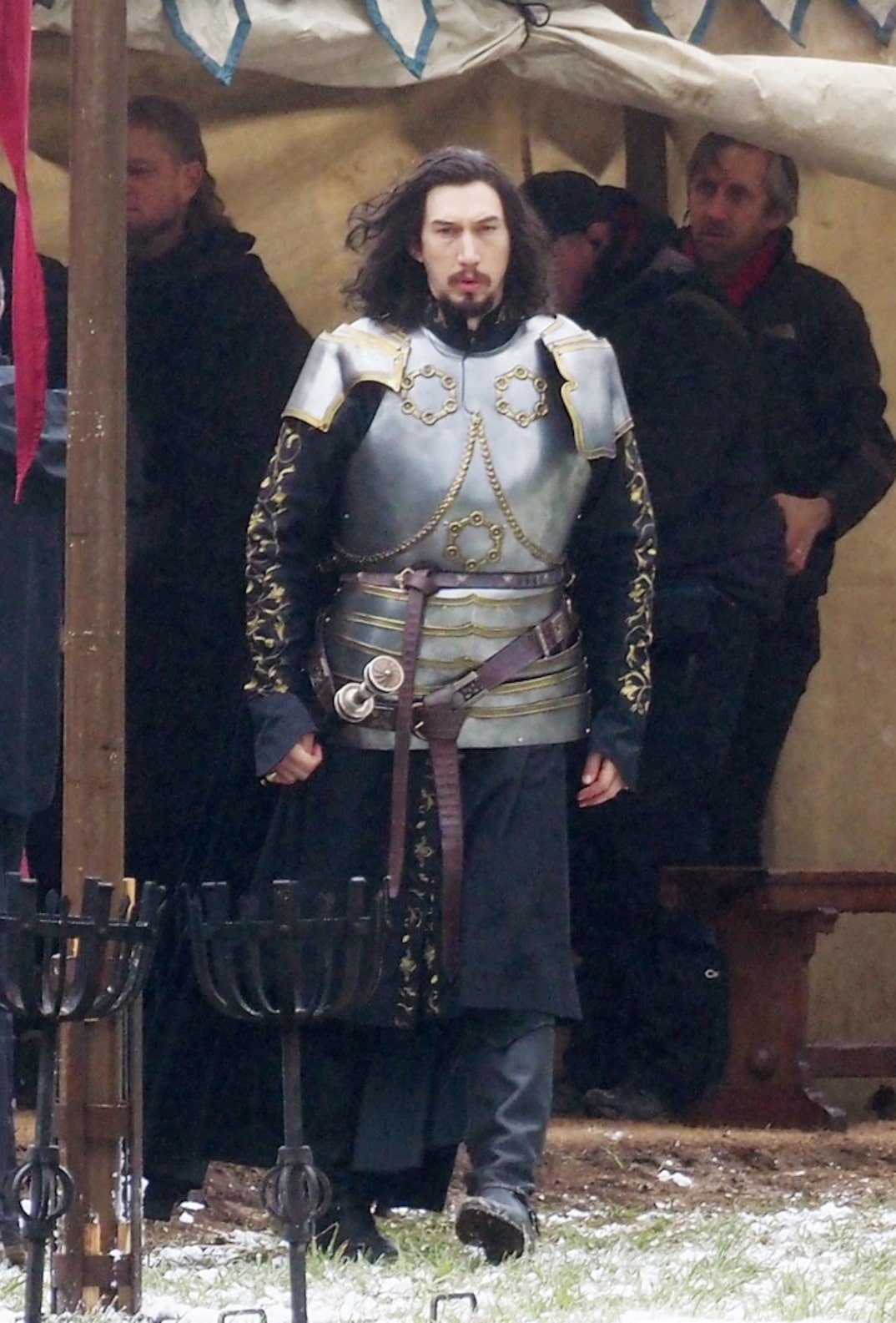 Adam Driver Becomes A Full-On Knight In The Last Duel Set Photos