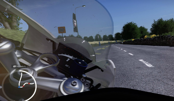 Cockpit view in TT Isle of Man 2