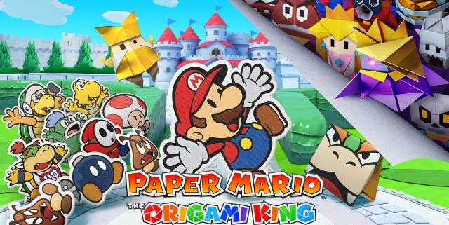 Paper Mario The Origami King Artwork