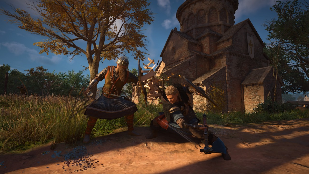 Combat is Assassin's Creed Valhalla
