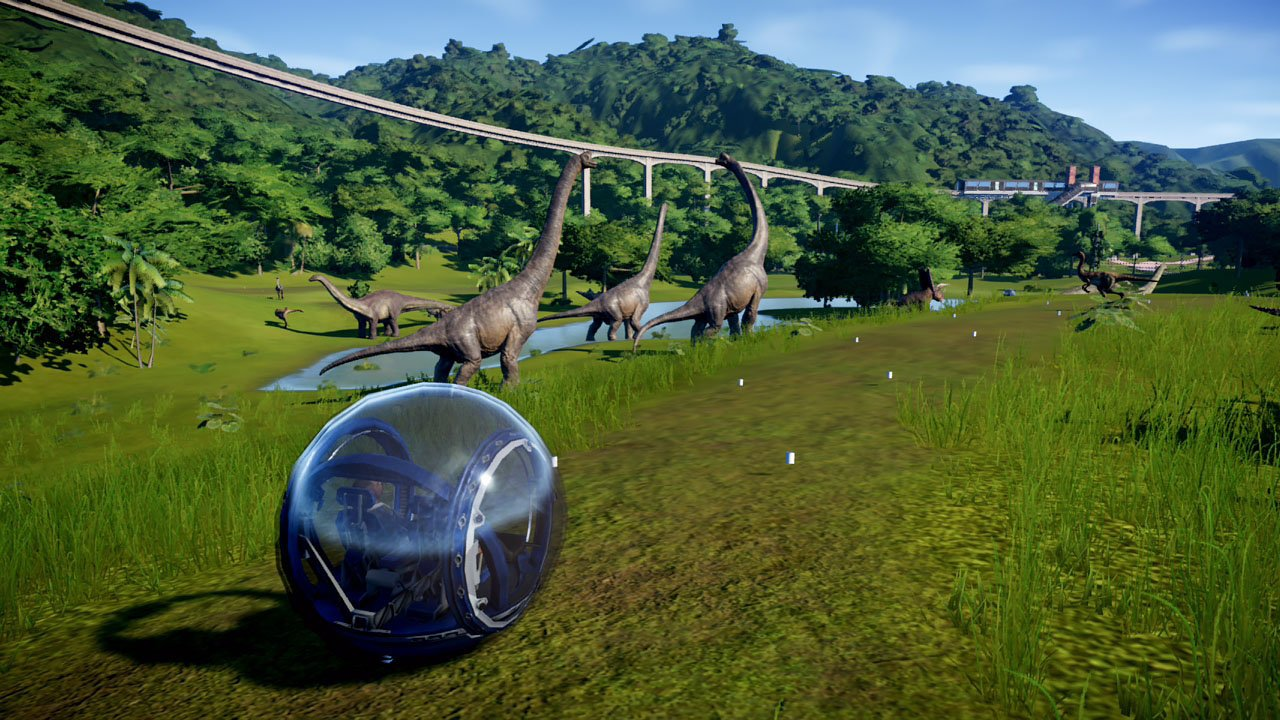 Explore your creations in Jurassic World Evolution