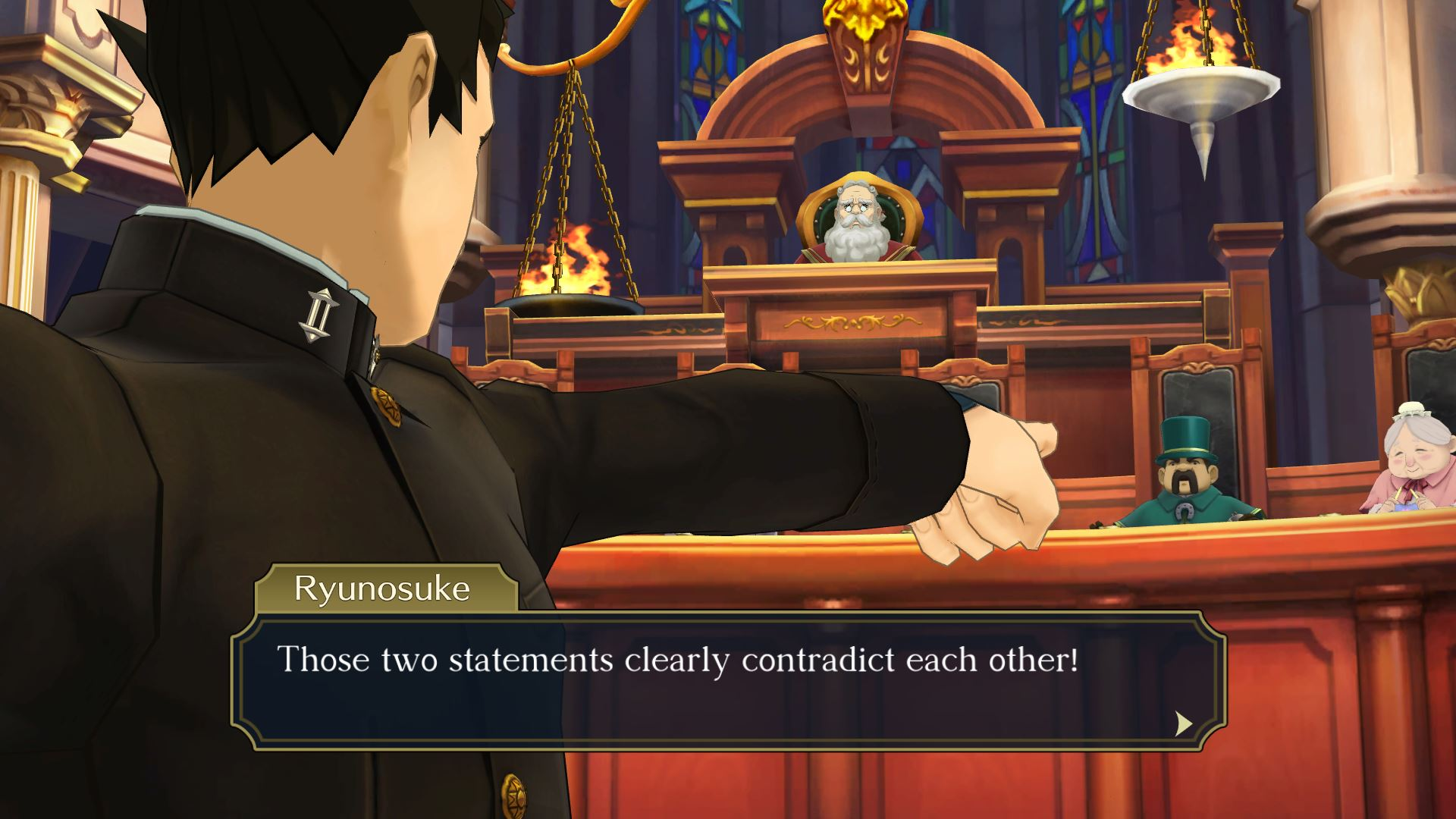 Great Ace Attorney Chronicles Courtroom