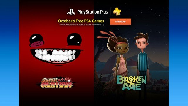 October's PS Plus Lineup Boasts Super Meat Boy And Broken Age