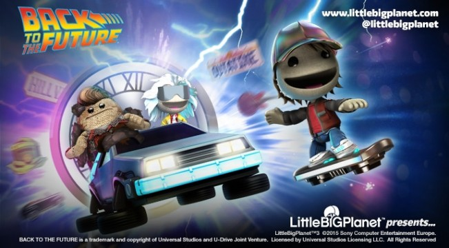 LittleBigPlanet 3 Just Got Bigger; 'Back To The Future' Level Kit Releases Today