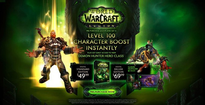 World Of Warcraft's Legion Expansion Launches August 30