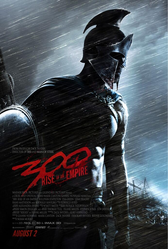 Poster Of Hunky Wet Men In Leather; It Must Be 300: Rise Of An Empire