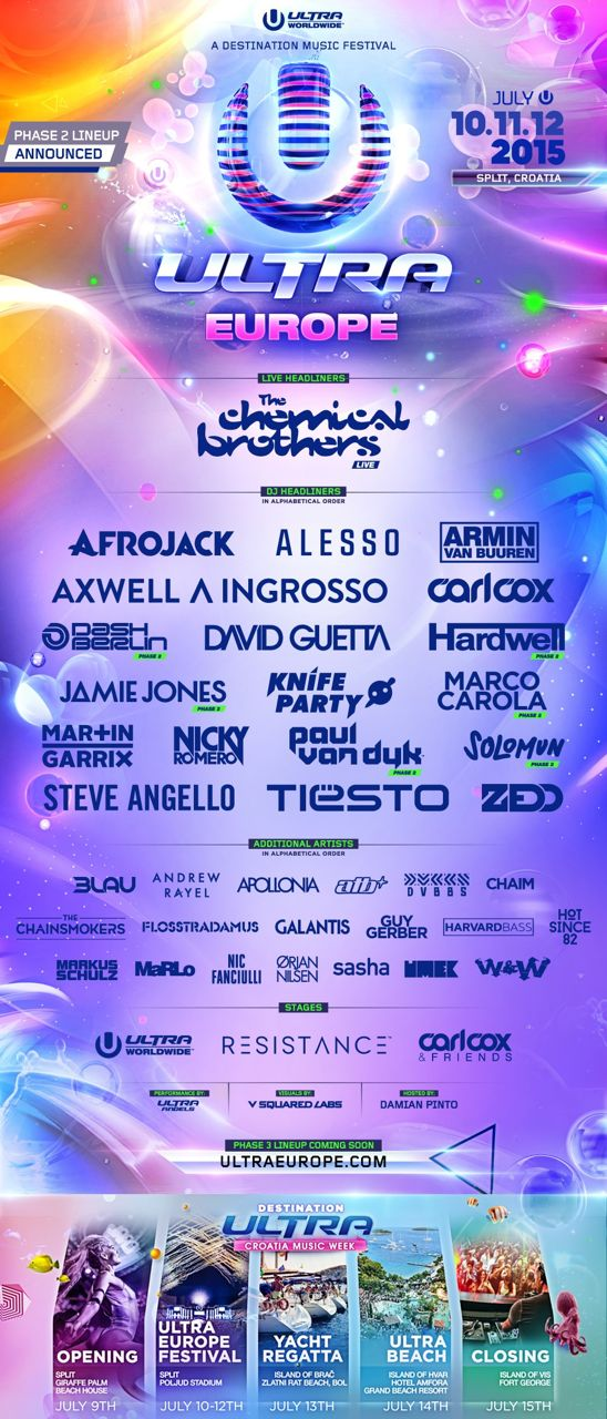 Ultra Europe Releases Phase 2 Lineup
