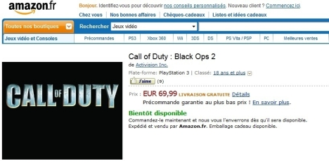 Black Ops 2 Reported To Be Leaked By Amazon.fr - Reporting Site Allegedly Blacklisted