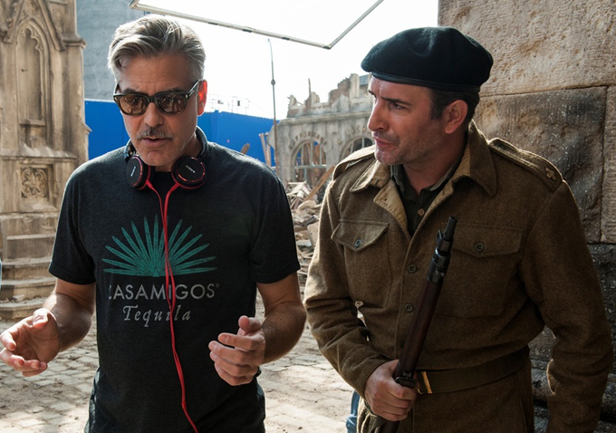 First Images Of Jean Dujardin In George Clooney's The Monuments Men