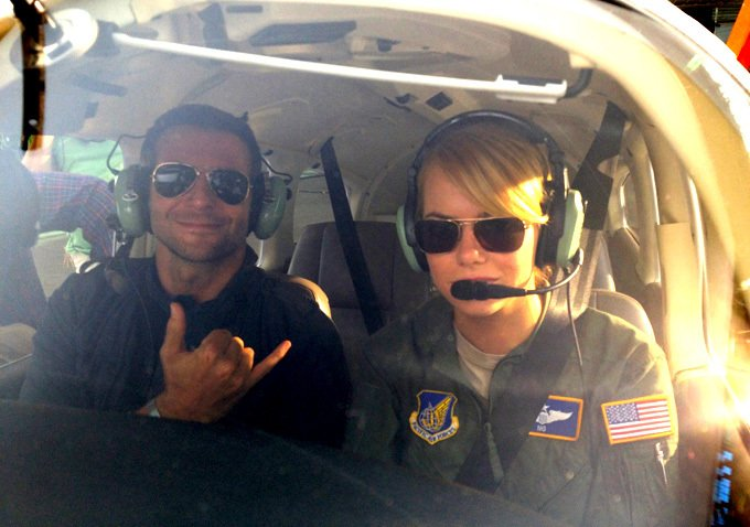 Check Out Bradley Cooper And Emma Stone In First Set Photo From Cameron Crowe's Upcoming Comedy