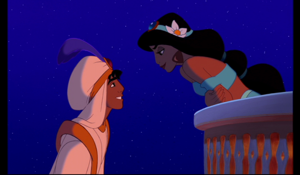 Aladdin balcony scene